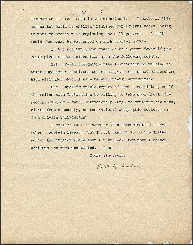 Robert Goddard Proposal - Sept 27, 1916 - Page 7