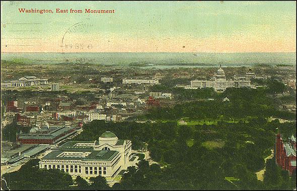 Postcard of Washington and the National Mall