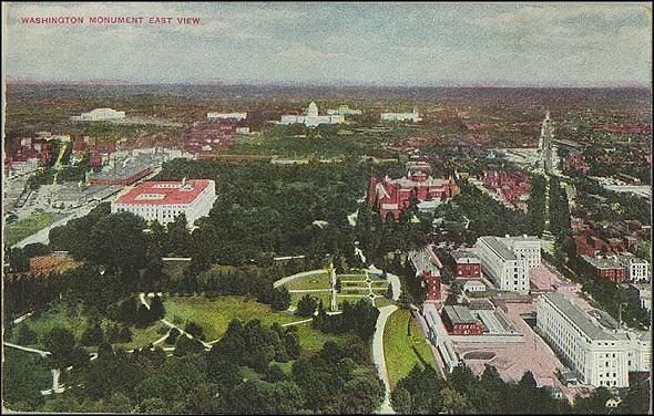 Washington Monument East View Postcard