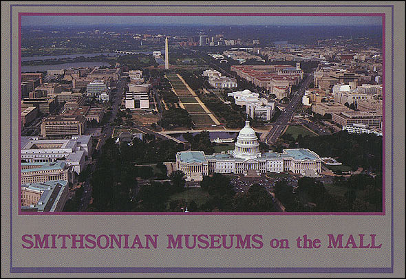 Postcard of Smithsonian Museums on the National Mall
