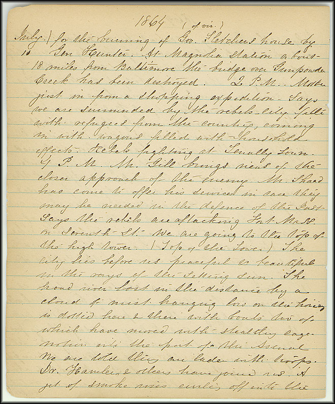 Mary Henry Diary, Southern Army - July, 1864 - Page 2