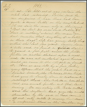 Mary Henry Diary, Southern Army - July, 1864 - Page 6