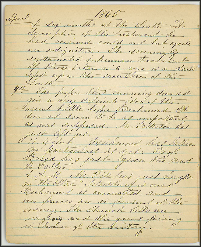 Mary Henry Diary, End of War - April, 1865 - Page 2