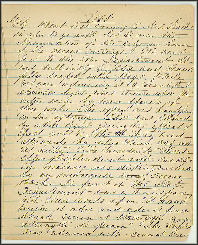 Mary Henry Diary, End of War - April, 1865 - Page 3