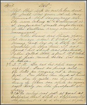 Mary Henry Diary, End of War - April, 1865 - Page 5