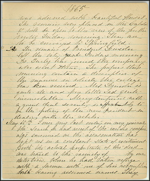 Mary Henry Diary, Lincoln - April, 1865 - Page 13