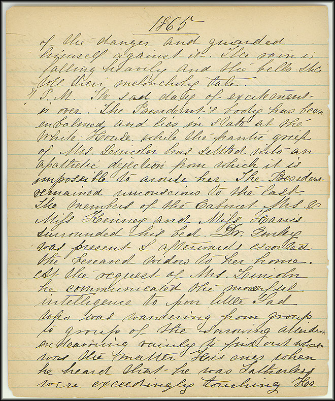 Mary Henry Diary, Lincoln - April, 1865 - Page 4