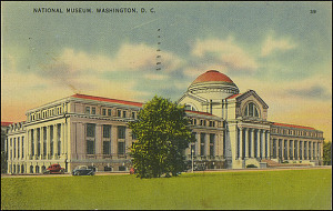 Postcard of the National Museum, August 29, 1945