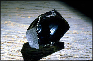 Obsidian from the beach of Norwikakat River, Alaska, collected by the Western Union  Telegraph Expedition, 1865-1866