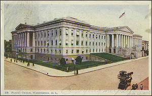 Postcard of the Patent Office #119, c. 1906, Unknown creator, Courtesy of a private collector, No copy available at the Smithsonian Institution Archives, patent2.jpg