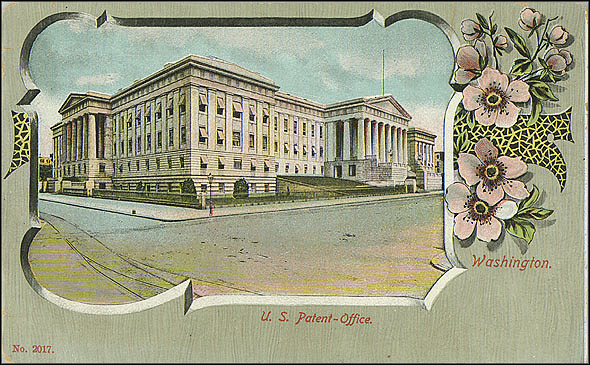Postcard of the Patent Office Building #2017, c. 1898-1901, Unknown creator, Courtesy of a private collector, No copy available at the Smithsonian Institution Archives