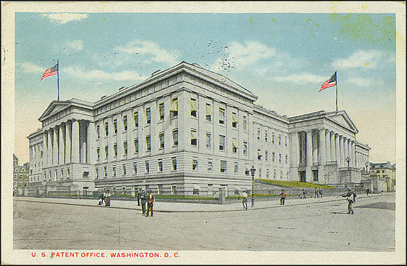 Postcard of the Patent Office Building, April 1917, The Washington News Company, Courtesy of a private collector, No copy available at the Smithsonian Institution Archives, patent6.jpg
