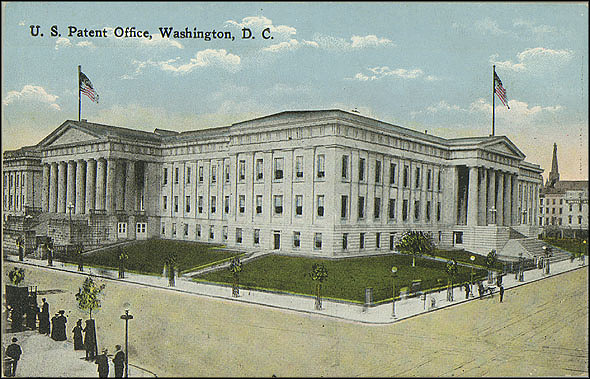 Postcard of the Patent Office Building, c. 1907-1915, Unknown creator, Courtesy of a private collector, No copy available at the Smithsonian Institution Archives, patent17.jpg