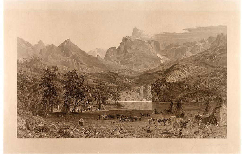 The Rocky Mountains, etched proof