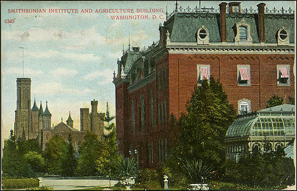 Postcard of the Castle and the Old Agriculture Building,