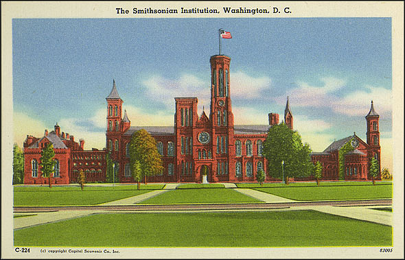 Postcard of the Castle and the National Mall