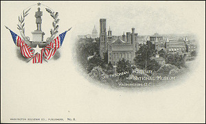 Postcard of the Castle and Flags