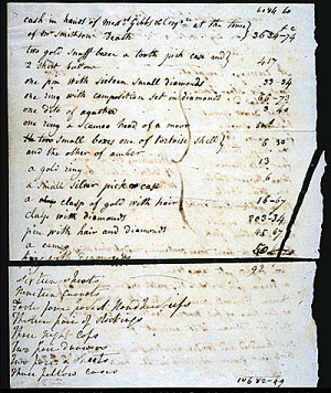 Inventory of James Smithson's Belongings,1829, Page 2