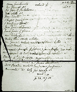 Inventory of James Smithson's Belongings,1829, Page 3