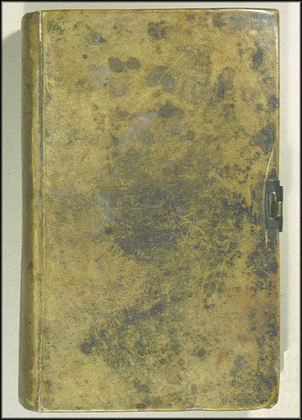 James Smithson Receipt Book Cover