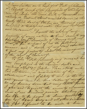 James Smithson Last Will - Oct 23, 1826 - Page 1