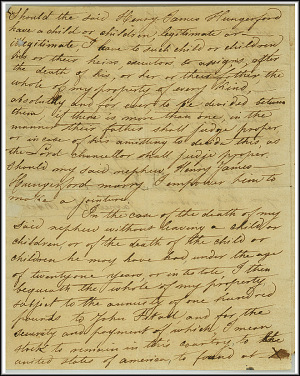 James Smithson Last Will - Oct 23, 1826 - Page 3