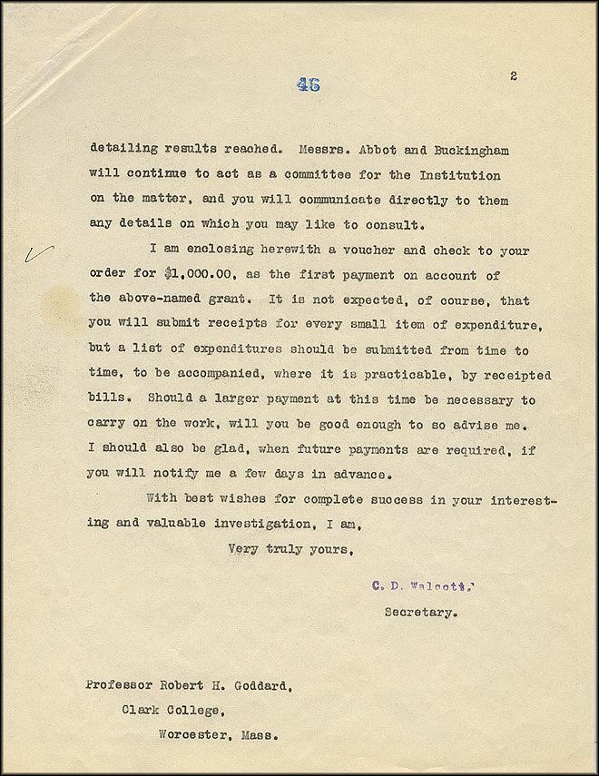 Robert Goddard Letter - Jan 5, 1917 - Page 2