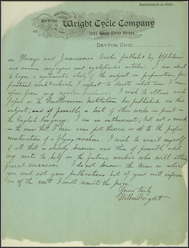 Wright Bros. Letter - May 30, 1899 - Page 2