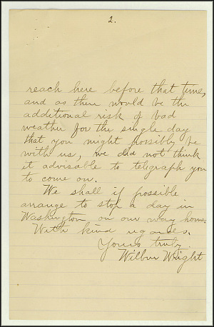 Wright Bros. Letter - Oct 20, 1902 - Page 2