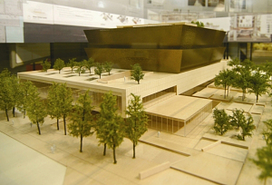 Model of National Museum of African American History and Culture