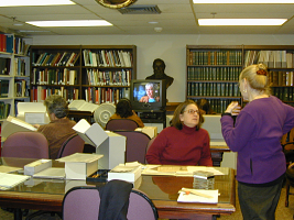 Reading room of the Smithsonian Institution Archives in the Arts and Industries Buildings
