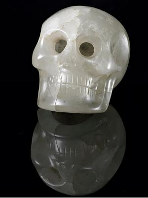 Skull, carved rock crystal | Smithsonian Institution