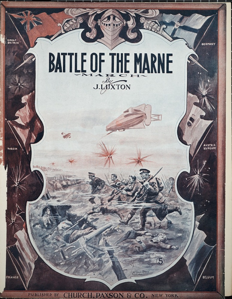image for Battle of the Marne : march / by J. Luxton