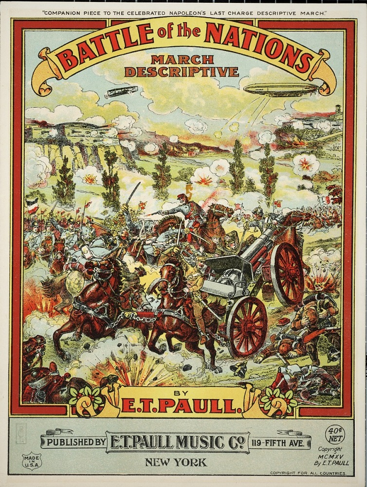 image for Battle of the nations : march descriptive / by E.T. Paull