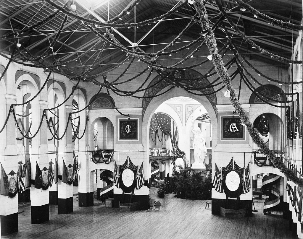image for U.S. National Museum Decorated for Garfield Inaugural Ball