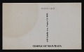 View Temple of Man promotional postcard featuring Robert Alexander digital asset: verso