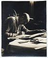 View James E. Allen drawing at a desk digital asset number 0