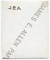 View James E. Allen drawing at a desk digital asset: verso