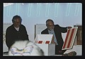 View Photograph of Stephen Antonakos and Daniel Buren at the Time Boxes 2000 event digital asset number 0