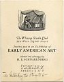 View Miscellaneous art exhibition catalog collection, 1813-1953, bulk 1915-1925 digital asset number 0