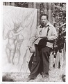 View Diego Rivera painting outside digital asset: front