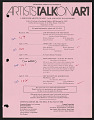 View Artists Talk on Art records digital asset number 1