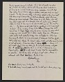 View Robert Burns Motherwell letter to William Baziotes digital asset number 1