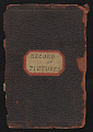 "View James Carroll Beckwith papers digital asset: ""Record of Pictures"" Art Inventory Notebook"