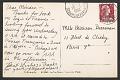 View Unidentified sender postcard to Miriam Beerman digital asset: verso