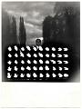 View Yves Klein with his work <em>Mur de feu (wall of fire)</em> digital asset number 0