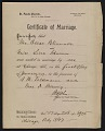 View Oscar Bluemner marriage certificate digital asset number 1
