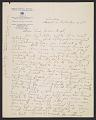 View Helen Blumenschein letter to Ernest Leonard Blumenschein digital asset number 0