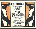 View Exhibition announcement for a show of contemporary art at the Penguin club digital asset number 0
