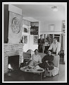 View Photograph of Lee Mullican, Gordon Onslow-Ford, Luchita Hurtado, and Jacqueline Johnson in the San Francisco home of Onslow-Ford and Johnson digital asset number 0